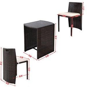 Giantex 3 PCS Cushioned Outdoor Wicker Patio Set Garden Lawn Sofa Furniture Seat Brown 0 0 300x300
