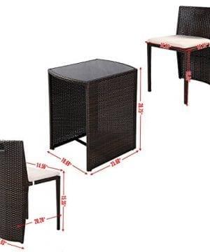 Giantex 3 PCS Cushioned Outdoor Wicker Patio Set Garden Lawn Sofa Furniture Seat Brown 0 0 300x360