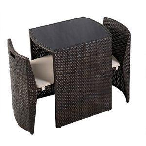 Giantex 3 PCS Cushioned Outdoor Wicker Patio Set Garden Lawn Sofa Furniture Seat Brown 0 3 300x300
