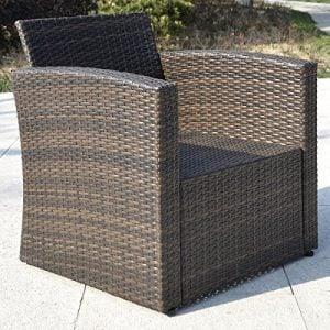 Giantex 4 PCS Cushioned Wicker Patio Sofa Furniture Set Garden Lawn Seat Gradient Brown 0 2 300x300