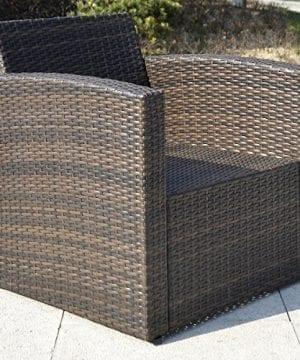 Giantex 4 PCS Cushioned Wicker Patio Sofa Furniture Set Garden Lawn Seat Gradient Brown 0 2 300x360
