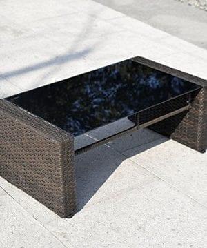Giantex 4 PCS Cushioned Wicker Patio Sofa Furniture Set Garden Lawn Seat Gradient Brown 0 4 300x360