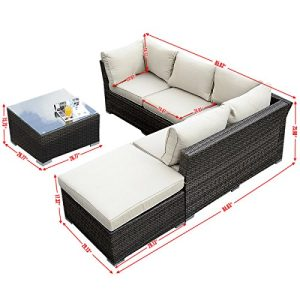 Giantex 4pc Patio Sectional Furniture Pe Wicker Rattan Sofa Set Deck Couch Outdoor 0 0 300x300