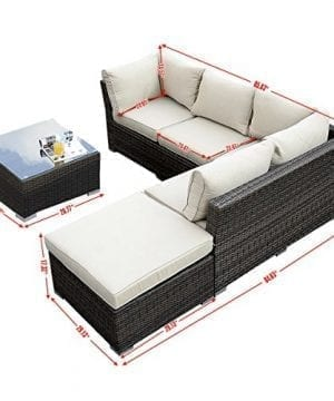 Giantex 4pc Patio Sectional Furniture Pe Wicker Rattan Sofa Set Deck Couch Outdoor 0 0 300x360