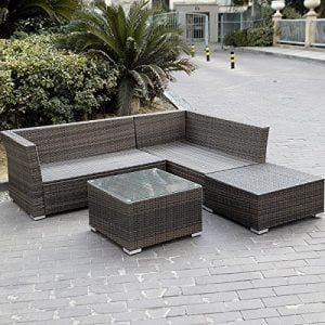 Giantex 4pc Patio Sectional Furniture Pe Wicker Rattan Sofa Set Deck Couch Outdoor 0 1 300x300
