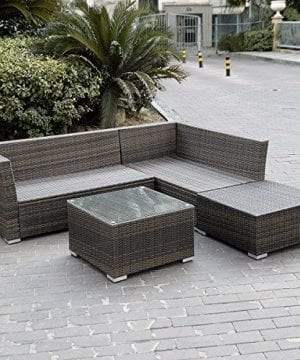 Giantex 4pc Patio Sectional Furniture Pe Wicker Rattan Sofa Set Deck Couch Outdoor 0 1 300x360
