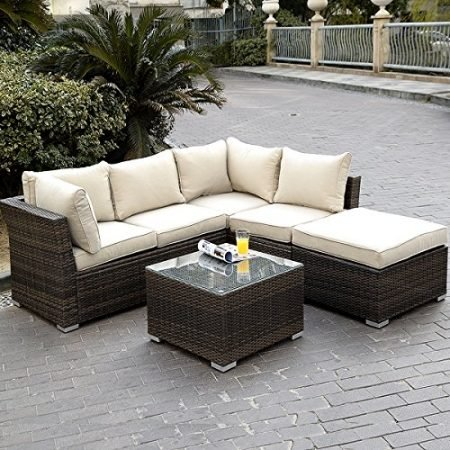 Giantex-4pc-Patio-Sectional-Furniture-Pe-Wicker-Rattan-Sofa-Set-Deck-Couch-Outdoor-0-450x450 Wicker Sectional Sofas