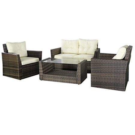 Goplus-4pc-Rattan-Sofa-Furniture-Set-Patio-Lawn-Cushioned-Seat-Gradient-Brown-Wicker-0-450x450 Wicker Conversation Sets