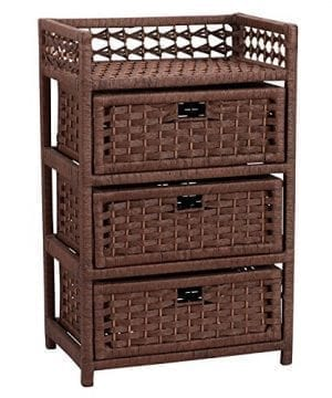 Household Essentials Chest With 3 Drawers Paper Rope 0 300x360