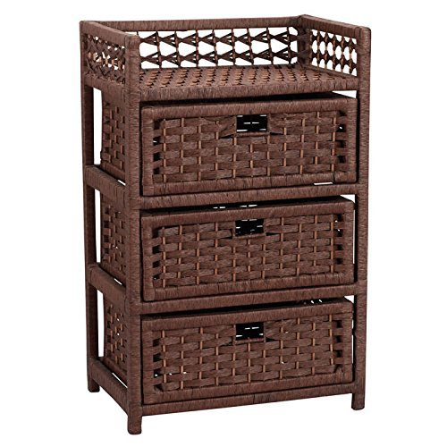 Household Essentials Chest With 3 Drawers Paper Rope 0