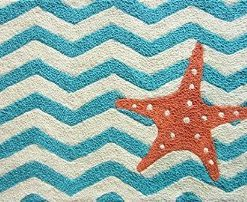 Jellybean-Chevron-Starfish-Accent-Area-Rug-0-247x202 Beach Rugs and Beach Area Rugs