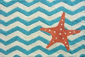Jellybean-Chevron-Starfish-Accent-Area-Rug-0 Beach Rugs and Beach Area Rugs
