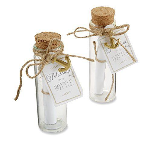 Kate Aspen Message In A Bottle Glass Favor Bottle Set Of 12 0
