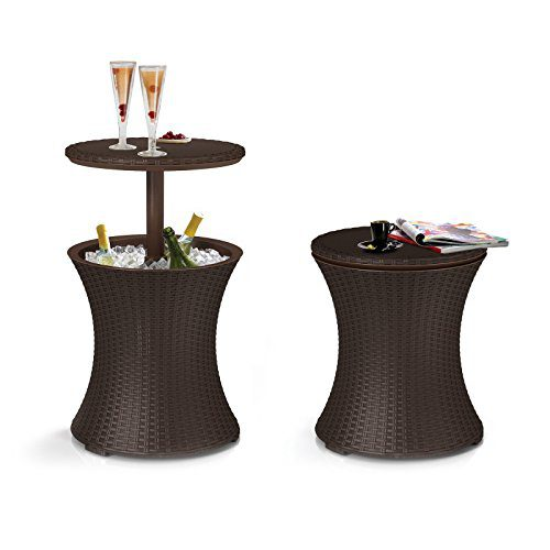 Keter Pacific Cool Bar Rattan Party Cooler 0 1