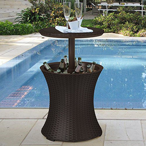 Keter Pacific Cool Bar Rattan Party Cooler 0