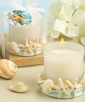 Lifes A Beach Collection Ocean Shell Themed Candle Holder 0 300x360