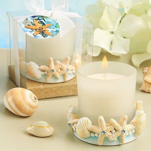 Lifes A Beach Collection Ocean Shell Themed Candle Holder 0