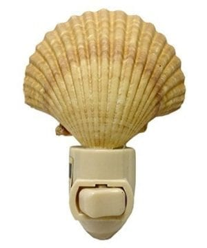 Natural Seashell Night Light Nautical Beach Decor 0 300x360