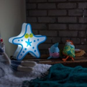 Nursery Lamp Kids Room Light Colorful LED Decorative Lamp Starfish Design 0 0 300x300