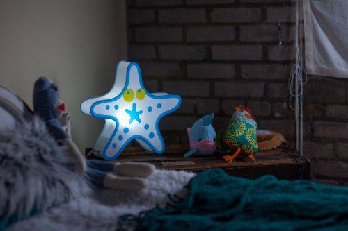 Nursery Lamp Kids Room Light Colorful LED Decorative Lamp Starfish Design 0 0