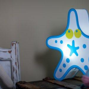 Nursery Lamp Kids Room Light Colorful LED Decorative Lamp Starfish Design 0 2 300x300