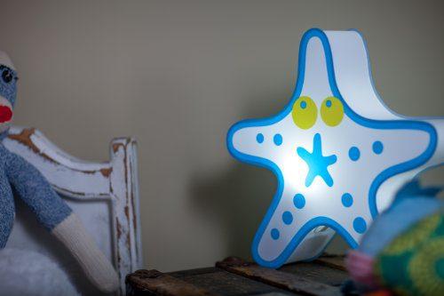 Nursery Lamp Kids Room Light Colorful LED Decorative Lamp Starfish Design 0 2