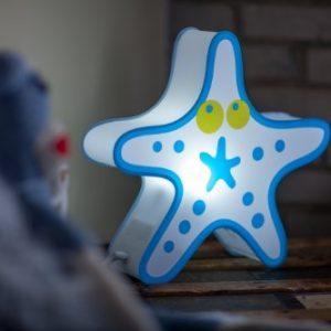 Nursery Lamp Kids Room Light Colorful LED Decorative Lamp Starfish Design 0 3 300x300