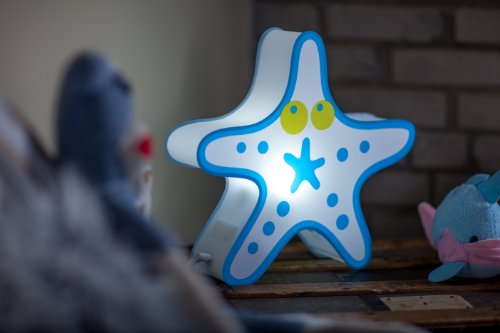 Nursery Lamp Kids Room Light Colorful LED Decorative Lamp Starfish Design 0 3