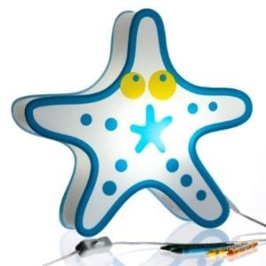 Nursery Lamp Kids Room Light Colorful LED Decorative Lamp Starfish Design 0 300x300