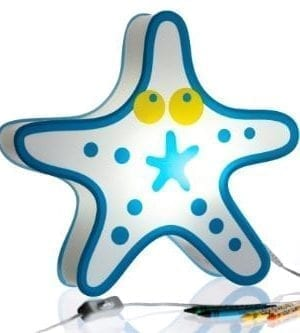 Nursery-Lamp-Kids-Room-Light-Colorful-LED-Decorative-Lamp-Starfish-Design-0-300x333 200+ Coastal Themed Lamps