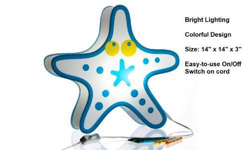 Nursery Lamp Kids Room Light Colorful LED Decorative Lamp Starfish Design 0 5