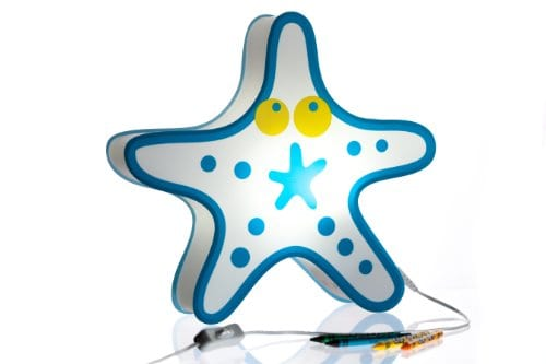 Nursery-Lamp-Kids-Room-Light-Colorful-LED-Decorative-Lamp-Starfish-Design-0 Beach Themed Lamps