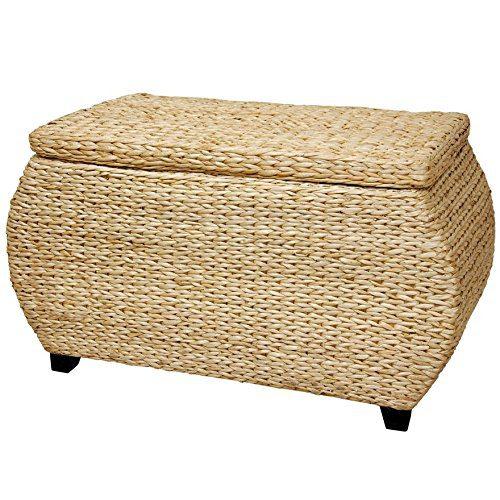 Oriental Furniture Rush Grass Storage Box Natural 0