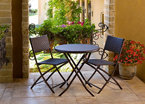 RST Brands Bistro Patio Furniture 3 Piece 0 0