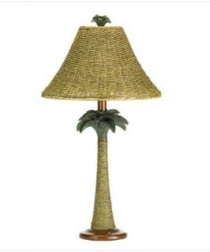 Rattan Rope Style Palm Tree Lamp Light Tropical Decor 0 300x360