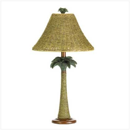 Rattan Rope Style Palm Tree Lamp Light Tropical Decor 0