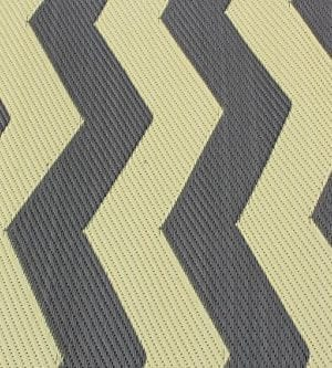 Rv Mat Patio Rug Chevron Pattern 9x12 TanCharcoal 0 0 300x333