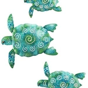 SEA Turtle Beach Ocean Summer Metal Wall ART 3 Piece 0 300x300