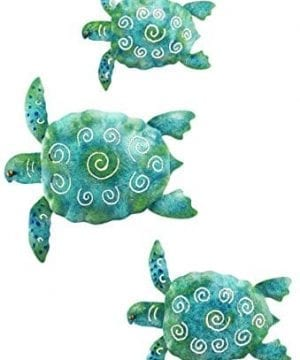 SEA Turtle Beach Ocean Summer Metal Wall ART 3 Piece 0 300x360