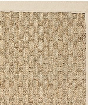 Safavieh Natural Fiber Collection NF114A Handmade Natural And Beige Seagrass Area Rug 2 Feet By 3 Feet 2 X 3 0 0 300x360