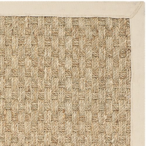 Safavieh Natural Fiber Collection NF114A Handmade Natural And Beige Seagrass Area Rug 2 Feet By 3 Feet 2 X 3 0 0