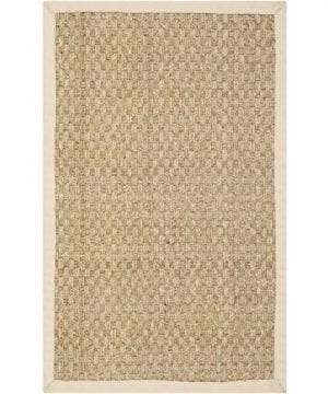 Safavieh Natural Fiber Collection NF114A Handmade Natural And Beige Seagrass Area Rug 2 Feet By 3 Feet 2 X 3 0 300x360