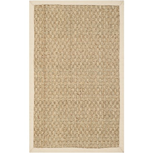Safavieh Natural Fiber Collection NF114A Handmade Natural And Beige Seagrass Area Rug 2 Feet By 3 Feet 2 X 3 0