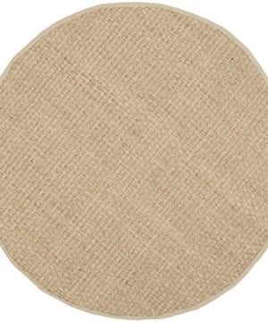 Safavieh Natural Fiber Collection NF114A Handmade Natural And Beige Seagrass Round Area Rug 6 Feet In Diameter 6 Diameter 0 0 300x360