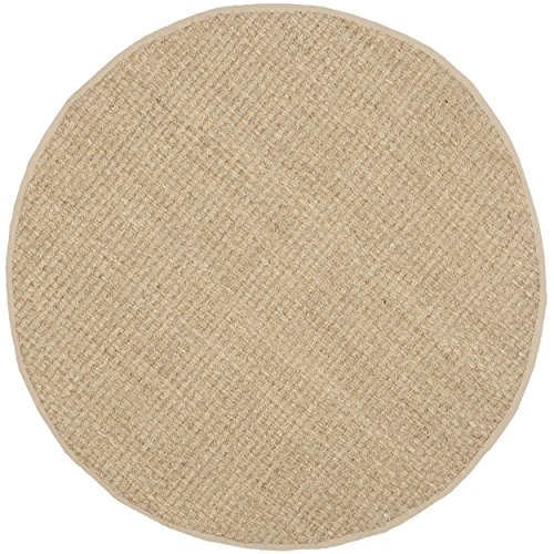 Safavieh Natural Fiber Collection NF114A Handmade Natural And Beige Seagrass Round Area Rug 6 Feet In Diameter 6 Diameter 0 0