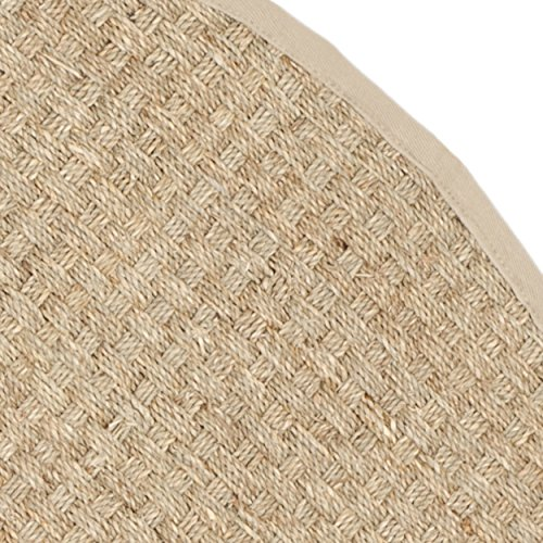 Safavieh Natural Fiber Collection NF114A Handmade Natural And Beige Seagrass Round Area Rug 6 Feet In Diameter 6 Diameter 0 1