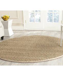 Safavieh-Natural-Fiber-Collection-NF114A-Handmade-Natural-and-Beige-Seagrass-Round-Area-Rug-6-feet-in-Diameter-6-Diameter-0