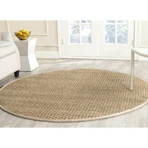 Safavieh-Natural-Fiber-Collection-NF114A-Handmade-Natural-and-Beige-Seagrass-Round-Area-Rug-6-feet-in-Diameter-6-Diameter-0-300x300 Coastal Rugs & Coastal Area Rugs