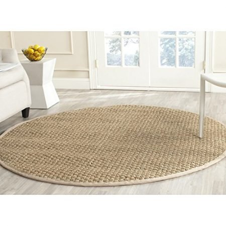 Safavieh-Natural-Fiber-Collection-NF114A-Handmade-Natural-and-Beige-Seagrass-Round-Area-Rug-6-feet-in-Diameter-6-Diameter-0-450x450 Beach Rugs and Beach Area Rugs