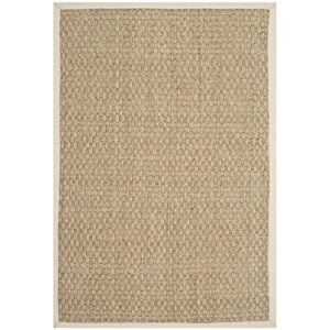 Safavieh Natural Fiber Collection NF114J Handmade Natural And Ivory Seagrass Area Rug 2 Feet By 3 Feet 2 X 3 0 300x300